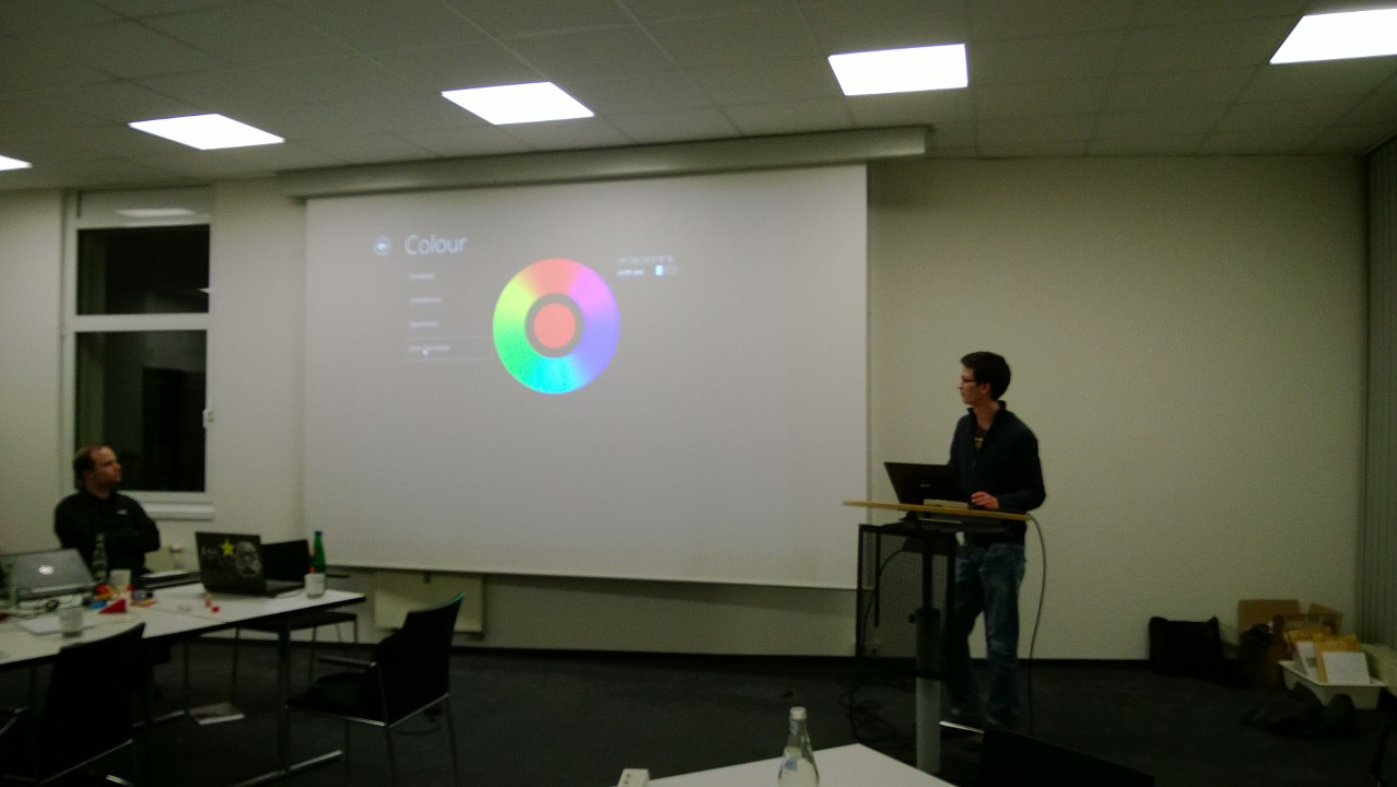 Microsoft Hackathon - Colour Wheel Application